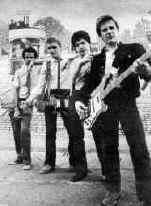 The bands first published picture summer 1979.